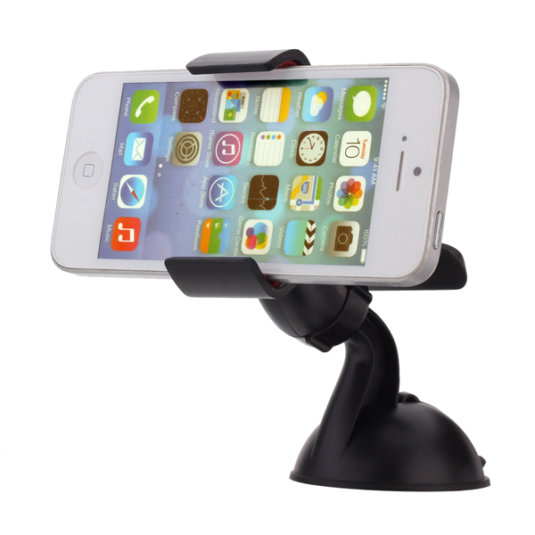 360° Roterende Stativ Monteret Device Holder til iPhone / GPS / MP4 / PDA Interiør Styling