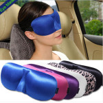 3D Eye Mask Shade Winker Patches Silk Shield Travel Sleeping Aid Car Interior Decoration