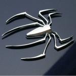 3D Spider Mærkat Bil Dekorative Mærkat Sølv Udvendig Styling
