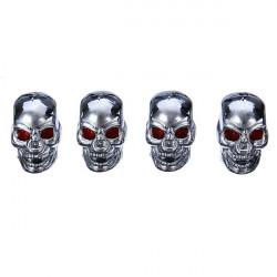 4pcs Skull Style Tire Valve Cup Car Wheel Decoration Accessories
