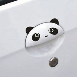 4x DIY Lovely Cute Panda Cartoon Sticker for Car Door Handle