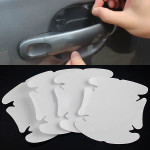 4x Invisible Adhesive Bil Dørhåndtag Scratch Beskyttelse Film Sheet Udvendig Styling