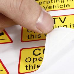 6stk Bil Taxi Sticker Klistermærker Signs Decal CCTV Opererer i Denne Køretøj