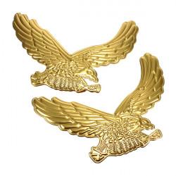 A Par Gulden Eagle Pattern Bil Dekorative Sticker Klistermærker