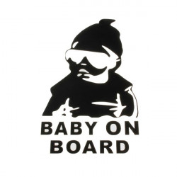 Baby On Board Auto Lastbil Sticker Klistermærkers Vindue Vinyl Decal Bil Funny Sticker Klistermærker
