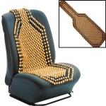 Beaded Trä Front Massage Seat Chair Cover Kudde Bil Office Home Interiör