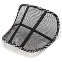 Black Mesh Lumbar Back Brace Support Car Seat Chair Cushion