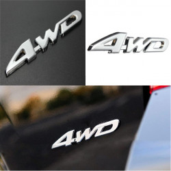 Car Chrome Metal 3D Adhesive 4WD Decal Emblem Badge Auto Sticker