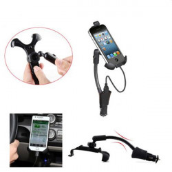 Car Cigarette Lighter Mount Adjustable Holder Charger for iPhone