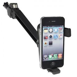 Bil Cigarettænder Mount Holder + Dual USB 3.1A Oplader for Mobiltelefon