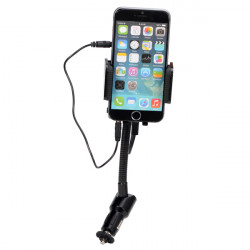 Car Hands-free Phone Holder Stand with FM Hi-Fi for All Phones