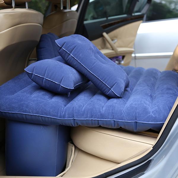 Bil Uppblåsbar Madrass Outdoor Travel Bil Luftmadrass med Pump Pillow Interiör