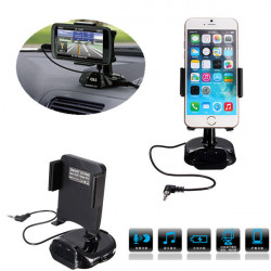 Car Mount Holder USB Charger FM Transmitter For Mobile Phone