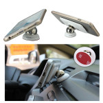 Bil Monteringssats Sticky Magnetisk 360 ° Roterande Stativ Hållare för Telefon Interiör