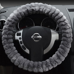 Car Steering Wheel Cover Soft Imitation Wool Warm Universal