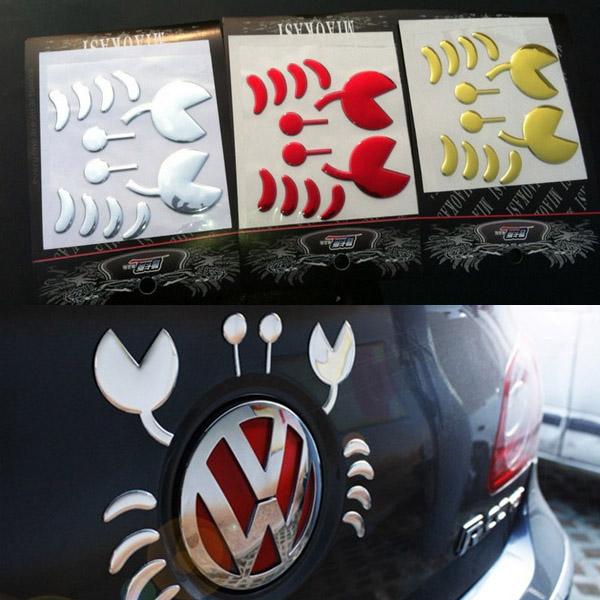 Auto Aufkleber PVC Flexible Plastic 3D Lustige Krabbe Auto Dekoration Aufkleber Auto Tuning