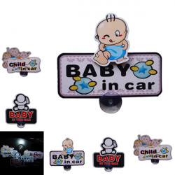 Cute Baby Swing Bil Sticker Klistermærkers DIY Dejlig Metal Rod med Sugekop