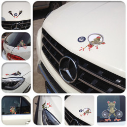 DIY Car Frog Stickers Personalized Funny Cool Decoration