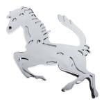 Pferd Logo Emblem Auto dekorative Sticker Silber Auto Tuning