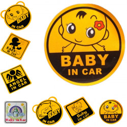 Lovely Cute Baby Car Stickers DIY Personalized Safety