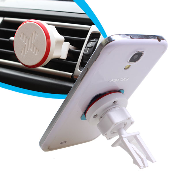 Magnetiske 360 ​​Grader Bilventilation Mobile Mount GPS Phone Holder Interiør Styling