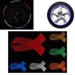 Multi Color Wheel Stickers Reflective Rim Stripe Decal Tape