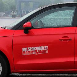 Nicht Sponsored By Mommy & Daddy Auto Fenster Aufkleber Lustige JDM Drift Honda