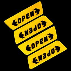 Öppna Dörren Varning Stickers Dörr Bumper Reflekterande Dekaler