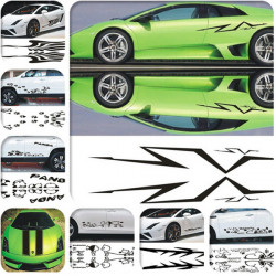 Personalized DIY Car Door Stickers Decoration Different Shapes
