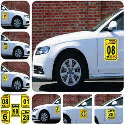 Personalized Digital Auto Dekoration Aufkleber DIY Lucky Number