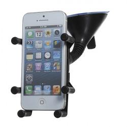Drejelig Bil Rustfrit Stål Cell Holder Beslag Stativ for iPhone