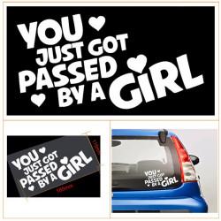 Du Er Lige Kommet Forbi En GIRL Funny Bil / Vindue Vinyl Decal Sticker Klistermærker