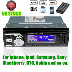 12V Car Stereo Radio Player MP3 USB SD AUX FM For Ipod IPhone Non CD