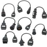8 Lastbil Diagnostisk Tester Adapter Kabel til Knorr Benz Renault Etc. OBDII Fejlkodelæsere