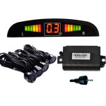Double CPU 4 Car Parking System Kit Sensors with LED Display Radar Detector