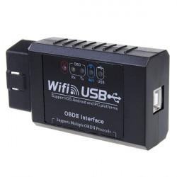 ELM327 WIFI USB OBD2 Scanner Værktøj + CD-driver