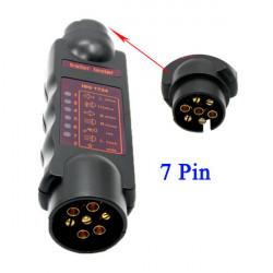 Fordon 7 Pin Trailer Bogsering Ljus Kabel Circuit Plug Socket Tester