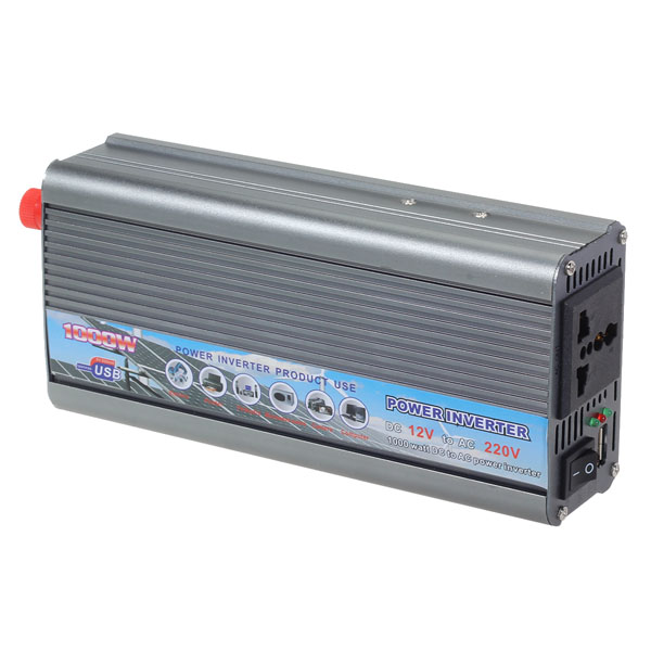 1000W Car 12V To 220V Power Inverter USB Port Car Power Converter Car Electronics