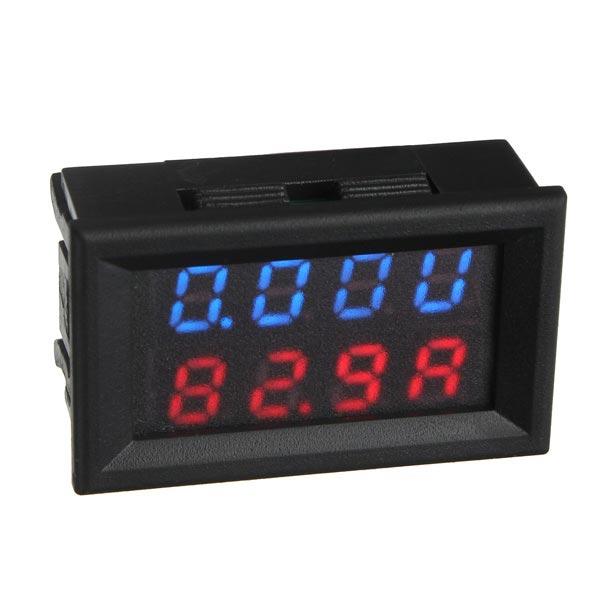 100V DC 12V Car Digital Voltmeter Ammeter LED Light Amp Volt Meter Car Electronics