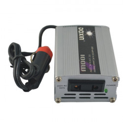100W Car DC 12V to AC 220V Power Inverter -  Silver