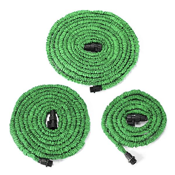 100ft Garden Green Latex Flexible Portable Anti-Car Telescopic Pipes Car Repair Tools
