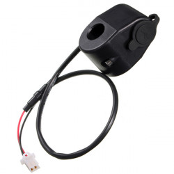 12-24V Dual USB Socket Car Cell Phone Charger Adapter 5V With Cable