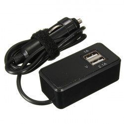 12V/24V Car Monitoring Battery 2 USB 1A 2.1A Port Socket Charger