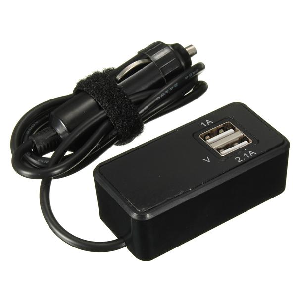 12V/24V Car Monitoring Battery 2 USB 1A 2.1A Port Socket Charger Car Electronics