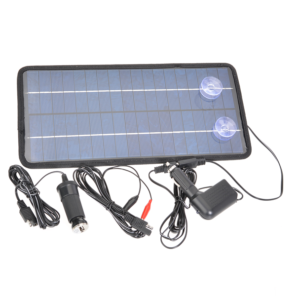 12V8W Poly Silicon Solar Panel Car Battery Charger For Car/Motorcycle Car Electronics