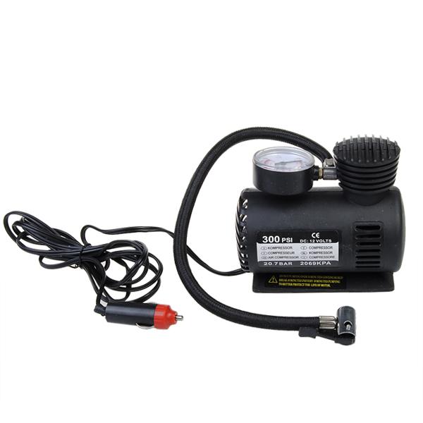 12V Auto Electric Pump Air Compressor Portable Tire Inflator 300PSI Car Electronics