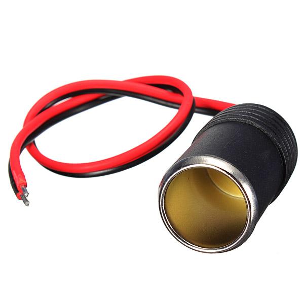12V Car Cigar Cigarette Lighter Socket Plug Connector Adapter Cable Car Electronics