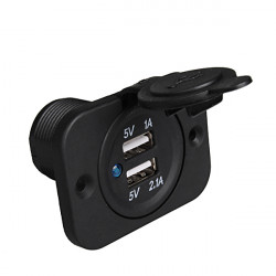 12V Car Modification USB Interface Converter Dual USB Car Charger