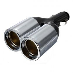 12V Car Motorcycle Dual Cigarette Lighter 2 Way Socket Power Adapter