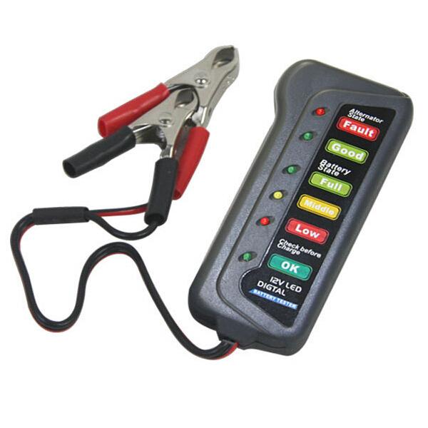 12V LED Digital Battery Alternator Tester 6 Led Display Indicates Car Electronics